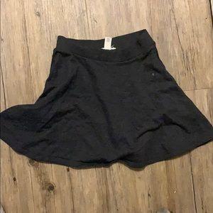 Dark grey high waisted short skirt